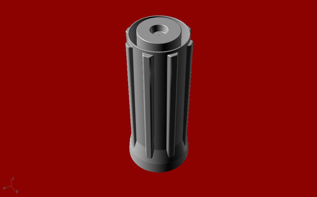 Questo è un cilindro meccanico costruito in 3 dimensioni grazie a Rhinoceros.