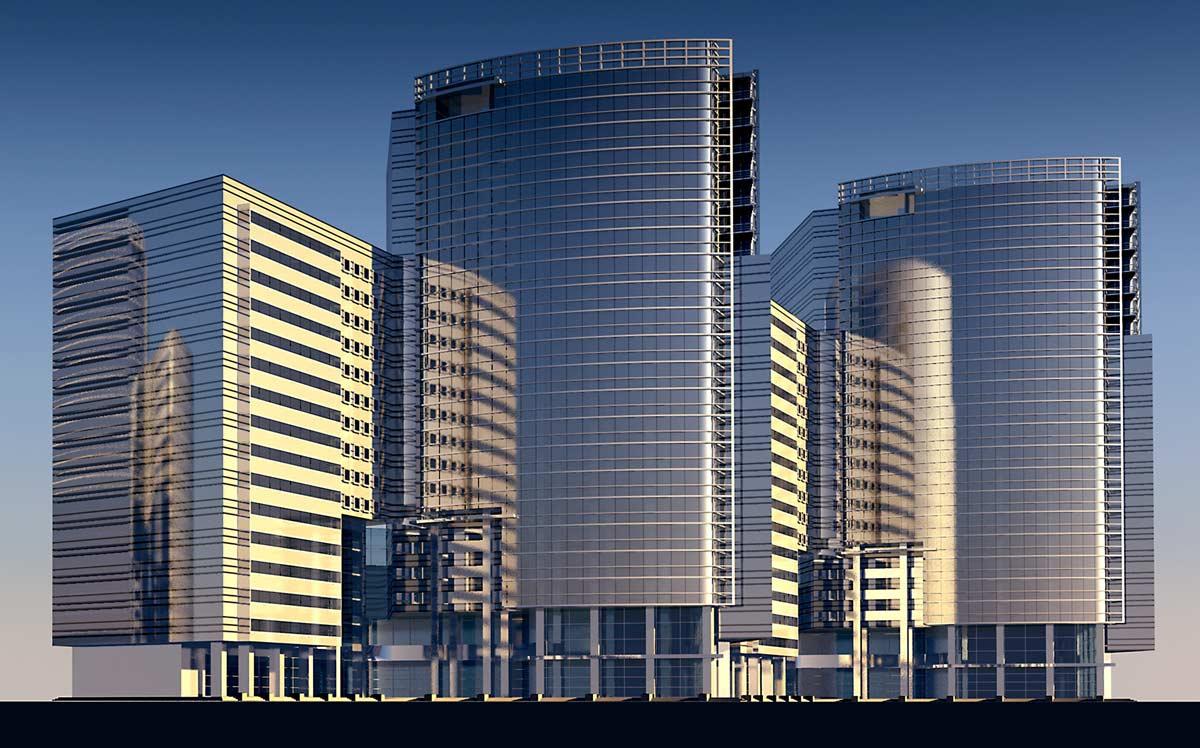 Alcuni esempi di grattacieli realizzati ai corsi di AutoCAD 3D di FormadHoc.