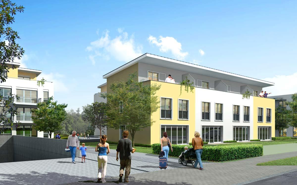 Un esempio di complesso di appartamenti, realizzato al corso FormadHoc di Autodesk Revit.
