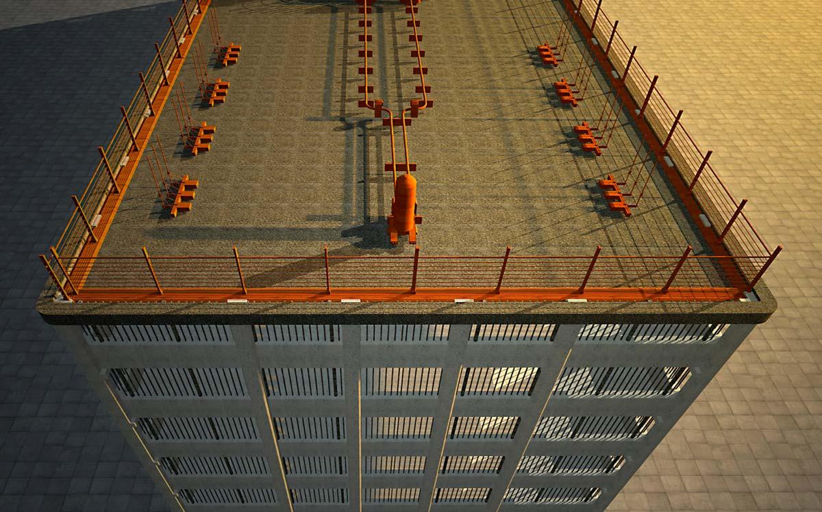 Esempio di parcheggio multipiano, realizzato al corso FormadHoc di Autodesk Revit.