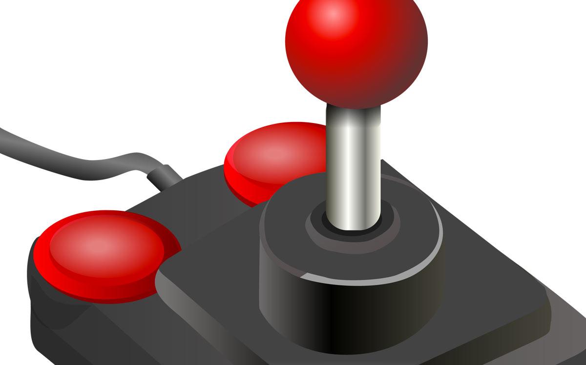 Esempio di joystick in formato vettoriale ai corsi di PC Grafica.