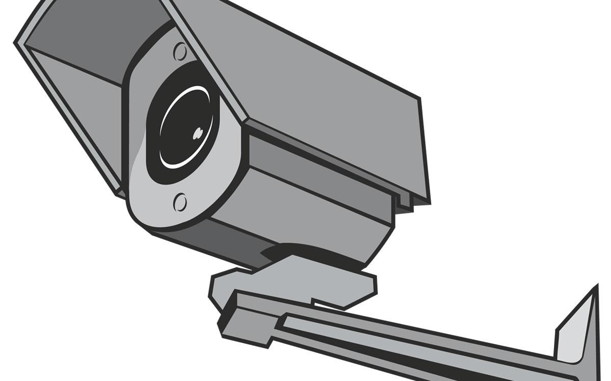 Esempio di videocamera per videosorveglianza ai corsi di PC Grafica.