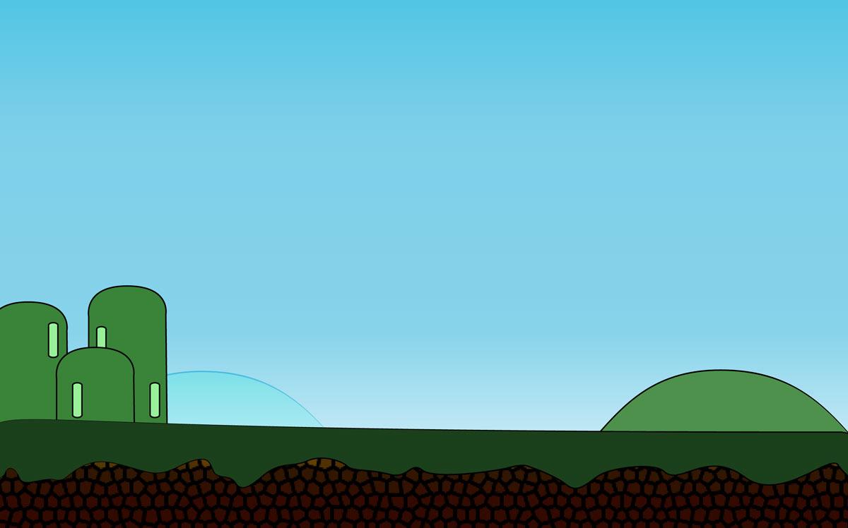 Esempio di sfondo per videogioco ai corsi di PC Grafica.