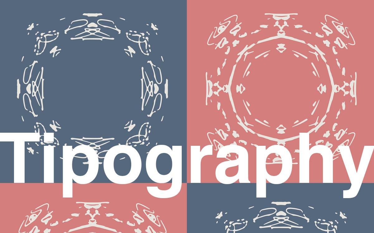 Un esempio di tipografia al corso di InDesign.