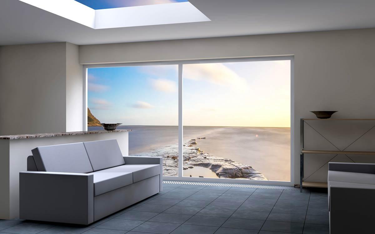 Il rendering di una vetrata in soggiorno con SketchUp al corso FormadHoc.