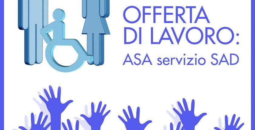 Offerta di lavoro ASA servizio SAD: Carugo, Inverigo, Lurago, Mariano Comense, Arosio, Cabiate.