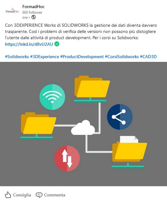 Linkedin post: Solidworks Collaboration.
