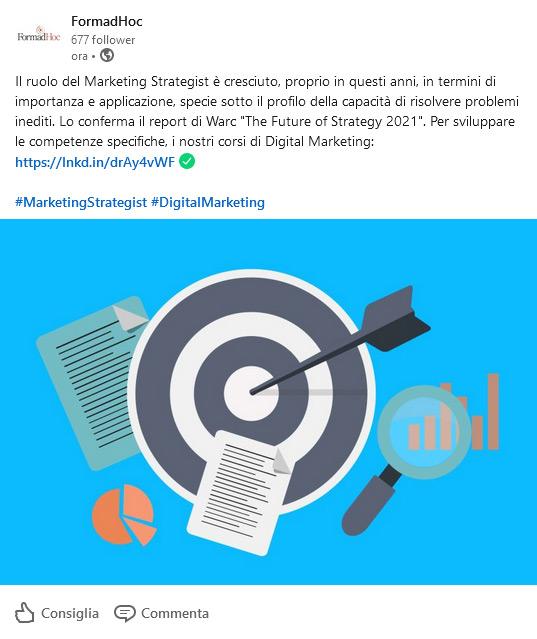 Post Linkedin: il marketing strategist.